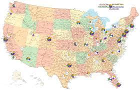 Baseball Map Usa Major League Sports Teams Map Oc Sports
