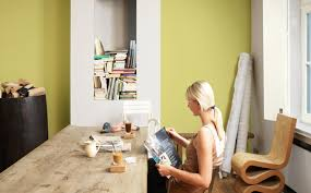 keep it natural with a green dining room interior and exterior
