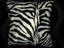 Pottery Barn Faux Fur Pillow Zebra Pillow Ebay