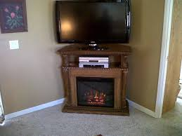 corner electric fireplace tv stand oak
