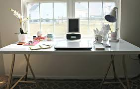 White Office Desk by Bathroomfoxy Home Office Desk Ideas Homemade Bathroomfoxy Narrow