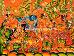 kerala mural paintings mural painting done by artist shaji shaji kollengode mural painting artist shaji kollengode mural painting artist