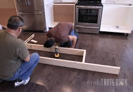 how to build a kitchen island using wall cabinets creating an ikea kitchen island pink notebookpink