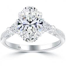 vintage engagement ring white gold 2015