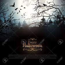 halloween spooky background path in a dark spooky forest with fog on halloween stock photo