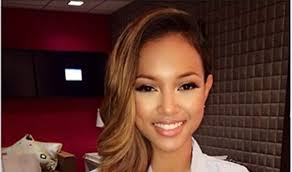 karrueche hair color karrueche tran disses blue ivy s hair on 106 park missxpose