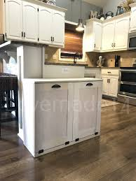 Kitchen Cabinet Recycle Bins by Double Tilt Trash Bin Recycle Bins Rustic Tilt Out Trash