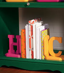 monogram bookends personalized book ends joann