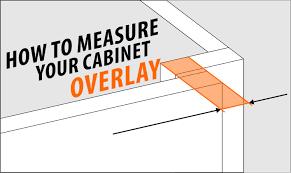 measure your cabinet door overlay u2013 rok hardware