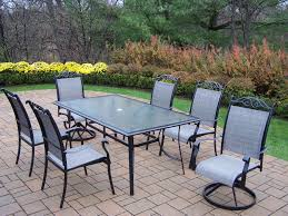 Patio Chair Replacement Slings by Oakland Living Cascade 7pc Sling Patio Dining Set