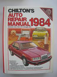 chilton u0027s auto repair manual 1984 american cars from 1977