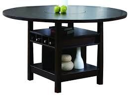 crown mark conner counter height table in espresso 2849t 6060 by