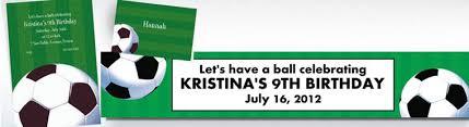 custom soccer invitations party city