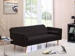 lolet canapé canape clic clac banny 3 places noir 69684 80638