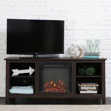 amazon com new 58 inch tv stand with fireplace in espresso finish