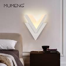 applique murale chambre mumeng moderne v forme led mur le 6 w ac220v acrylique applique
