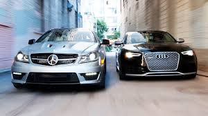 mercedes and 2014 audi rs5 vs 2014 mercedes c63 507 coupe 2