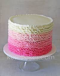 pink ombre ruffles u0026 roses 1st birthday cakes and cookies rose
