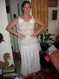 bargain wedding dresses the cheapest wedding dresses made of toilet paper