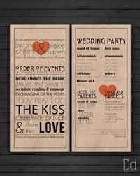 Cheap Wedding Programs Wedding Program Vintage Theme Trademark Order Of Events