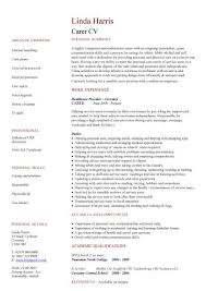 Resume Communication Skills Sample by Carer Cv Sample Bathing Washing Shaving Oral Hygiene And Hair