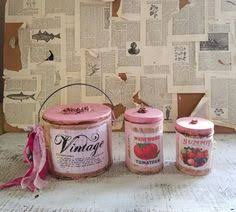 shabby cottage canister set decorative canister set kitchen