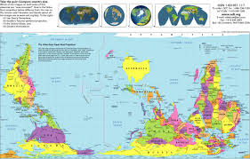 Map Of The Western Hemisphere The Upsidedown Map Page Francis Irving