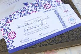 Boarding Pass Wedding Invitations Modern Boarding Pass Wedding Invitation