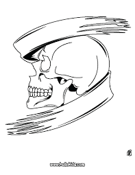 Skull Coloring Page Pages Halloween Very Scary Disney Free Scary Coloring Paes