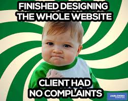 Meme Websites - finished designing the whole website client had no complaints