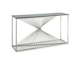 stainless steel console table brendan glass stainless steel console table shop for affordable