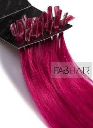pink hair extensions fusion hair extensions u tip pink