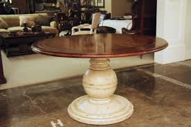Kitchen Wood Table by Table Breathtaking Round Country Wood Table And Painted Pedestal