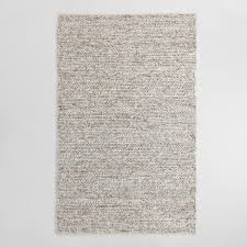Wool Area Rugs Gray Chunky Sweater Wool Allegra Area Rug World Market