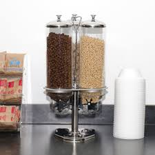wall mounted dry food dispenser triple canister dry food dispenser