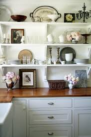 Ideas To Decorate Your Kitchen White Kitchen Cabinets Shelves Decorating With Food Collection In
