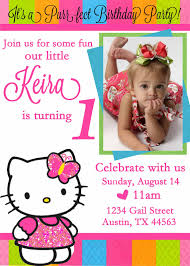 Invitation Card 7th Birthday Boy Free Personalized Hello Kitty Birthday Invitations Drevio
