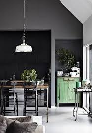 cuisine repeinte en noir une cuisine ouverte repeinte en noir et gris anthracite