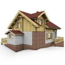 alpine european house with garage 3d model cgstudio