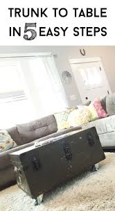 Trunk Like Coffee Table by Feb 20 Tutorial Turn A Military Foot Locker Trunk Into An