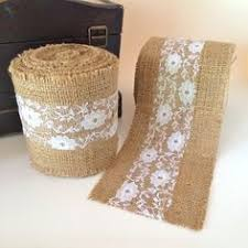 wide lace ribbon wired burlap ribbon lace trim 1 5 wide lace trimmed