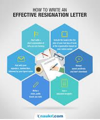 resignation letter format sample resignation letter naukri com