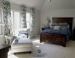 dark blue gray paint sherwin williams repose gray master bedroom with dark cherry wood
