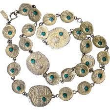 pauline rader necklace pauline rader coin revival vintage necklace from