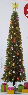 9 foot pre lit slim alberta spruce tree clear lights