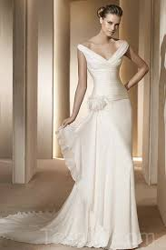 wedding dresses wholesale the shoulder v neck ruched white beautiful wedding dress