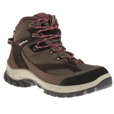 womens walking boots uk s brown forclaz 100 high waterproof hiking boots