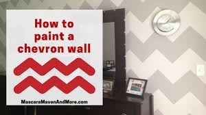 how to paint a chevron wall easy video tutorial youtube
