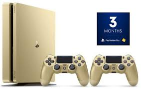 Ps 4 Ps4 Slim 500 Gb Gold Original Garansi Resmi Sony Pes 2018 sony playstation 4 slim 500gb 2 controllers gold 3 months ps