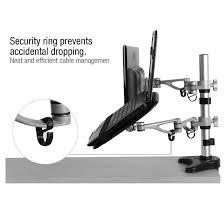 Secure Laptop To Desk by M14 Dual Arm Monitor U0026 Laptop Mount For 10 U2033 27 U2033 U2013 Fleximounts
